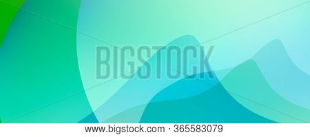 Abstract Colourful Aqua Turkey Petrol Green Curves Background Illustration 2d Rendering