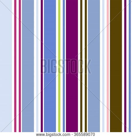 Vertical Stripes Seamless Pattern. Male, Female, Childrens Modern Fashion Textile. Autumn Winter Bus