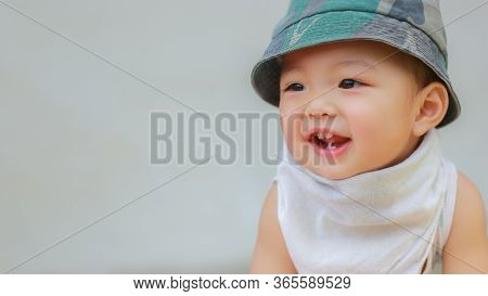 Adorable Black Haired Asian Kid