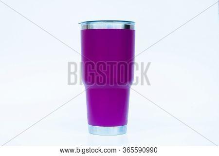 Tumbler Isolated On White Background, Stock Photo