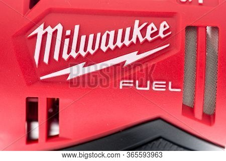 Winneconne,  Wi - 10 May 2020:  A Close Up Of Milwaukee Tool Company Logo On An Isolated Background