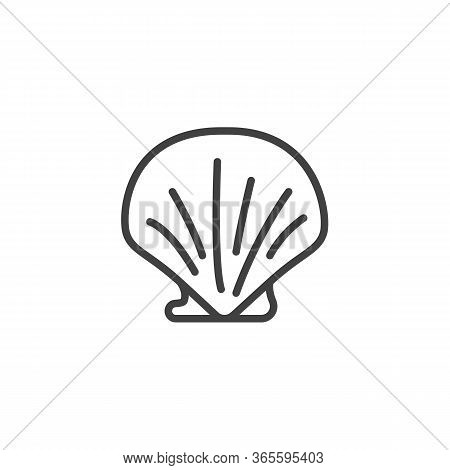 Seashell Line Icon. Linear Style Sign For Mobile Concept And Web Design. Sea Shell Outline Vector Ic