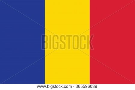 Chad Flag Vector Graphic. Rectangle Chadian Flag Illustration. Chad Country Flag Is A Symbol Of Free