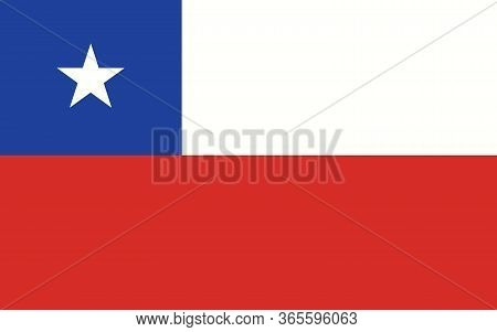 Chile Flag Vector Graphic. Rectangle Chilean Flag Illustration. Chile Country Flag Is A Symbol Of Fr