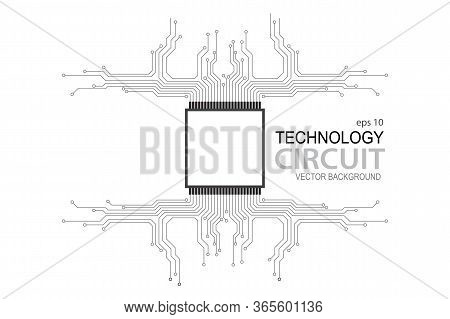 Circuit Board, Circuit Board Icon Isolated On White Background, Circuit Board Cpu Microprocessor Dat