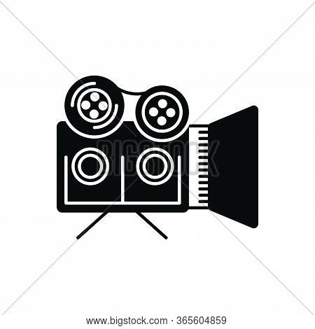 Black Solid Icon For Documentaries Documentary-film Filmmaking Broadcasting Videographer