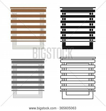 Vector Design Of Jalousie And Roll Logo. Web Element Of Jalousie And Wooden Vector Icon For Stock.