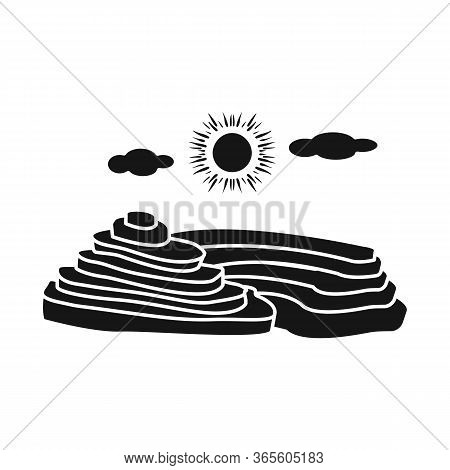 Isolated Object Of Rice And Field Symbol. Collection Of Rice And Terrace Stock Vector Illustration.