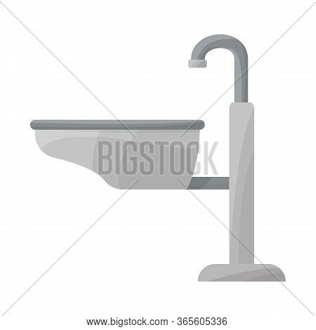 Isolated Object Of Sink And Basin Logo. Graphic Of Sink And Wash Vector Icon For Stock.