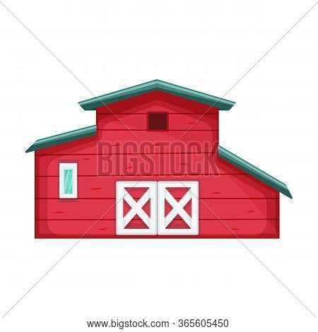 Barn Vector Icon.cartoon Vector Icon Isolated On White Background Barn.
