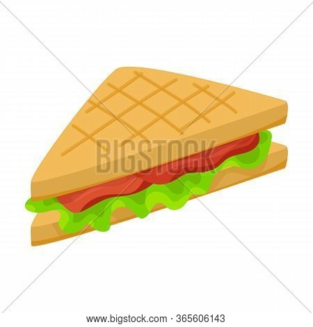 Sandwich Vector Icon.cartoon Vector Icon Isolated On White Background Sandwich.