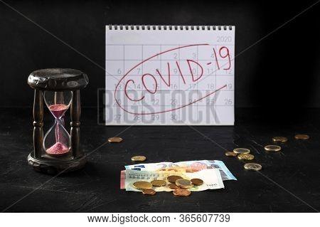 Coronavirus Covid-19 Impact On European Economy, Economical Consequences Of The Quarantine Concept.