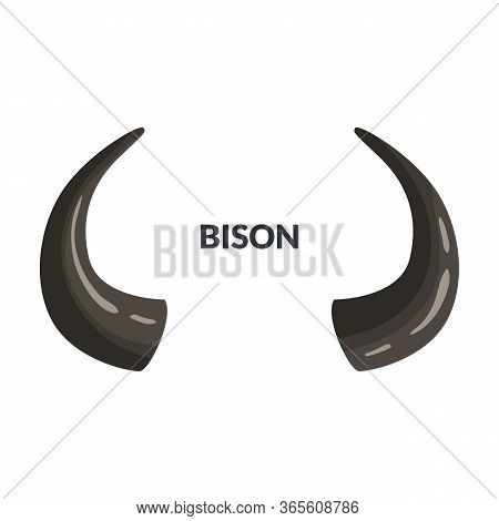 Horn Bison Vector Icon.cartoon Vector Icon Isolated On White Background Horn Bison.