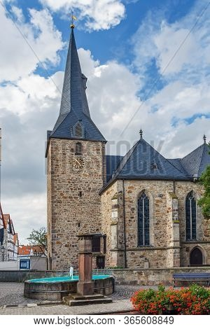 Melsungen Evangelical City Church Is The Oldest Existing Building In The City, Germany