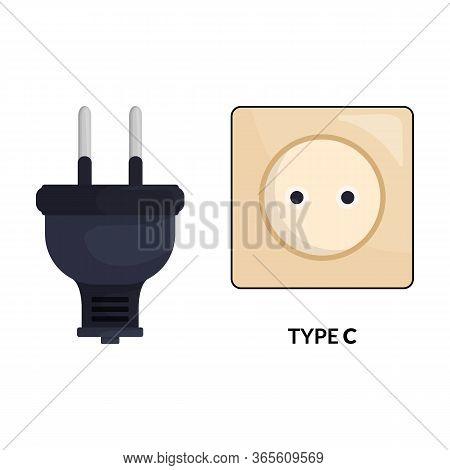 Socket Vector Icon.cartoon Vector Icon Isolated On White Background Socket.