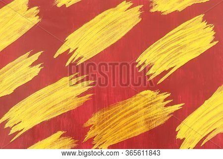 Yellow And Orange Texture With Abstract Shapes And Lines