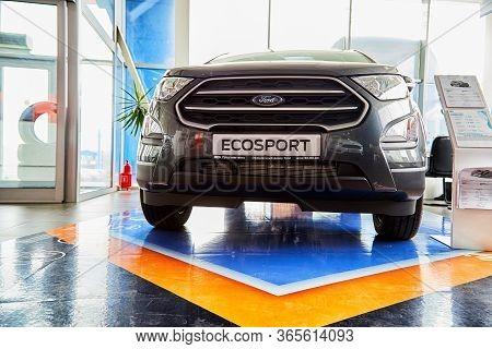 Kirov, Russia - May 07, 2019: Car In Showroom Of Dealership Ford In Kirov