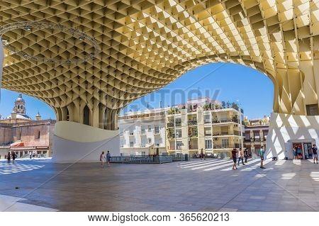 Sevilla, Spain - May 14, 2019: Modern Construction Of The Setas The Sevilla In Spain