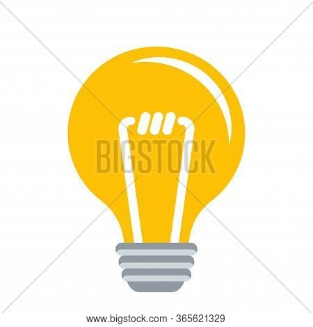 Electric Lamp. Idea And Innovation. Invention And Scientific Knowledge. Flat Vector Illustration.