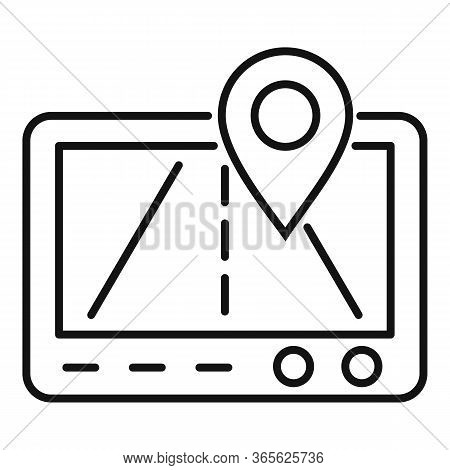 Gps Relocation Icon. Outline Gps Relocation Vector Icon For Web Design Isolated On White Background