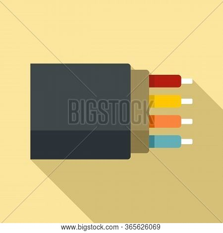 Bandwidth Optical Fiber Icon. Flat Illustration Of Bandwidth Optical Fiber Vector Icon For Web Desig