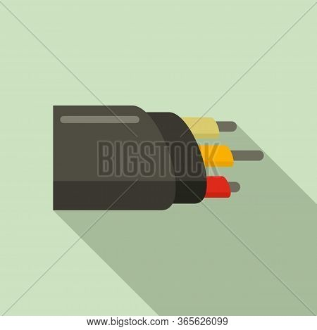 Network Optic Cable Icon. Flat Illustration Of Network Optic Cable Vector Icon For Web Design