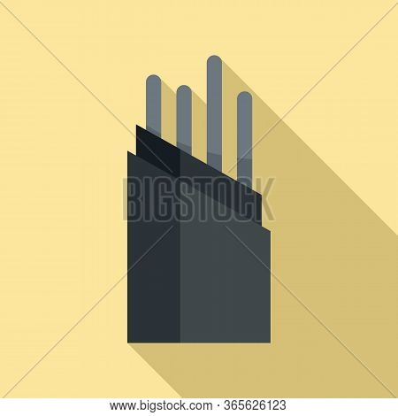 Wire Optical Fiber Icon. Flat Illustration Of Wire Optical Fiber Vector Icon For Web Design