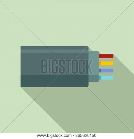 Connection Optical Cable Icon. Flat Illustration Of Connection Optical Cable Vector Icon For Web Des