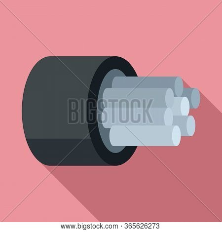Computer Optical Fiber Icon. Flat Illustration Of Computer Optical Fiber Vector Icon For Web Design
