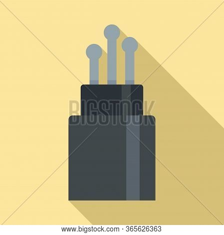 Broadband Optical Fiber Icon. Flat Illustration Of Broadband Optical Fiber Vector Icon For Web Desig