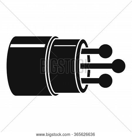 Communication Optical Fiber Icon. Simple Illustration Of Communication Optical Fiber Vector Icon For