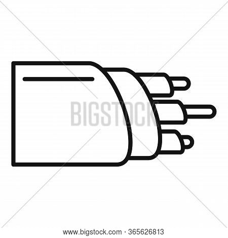 Network Optic Cable Icon. Outline Network Optic Cable Vector Icon For Web Design Isolated On White B