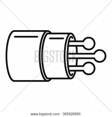 Communication Optical Fiber Icon. Outline Communication Optical Fiber Vector Icon For Web Design Iso