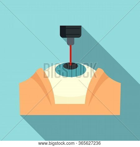Laser Eye Examination Icon. Flat Illustration Of Laser Eye Examination Vector Icon For Web Design