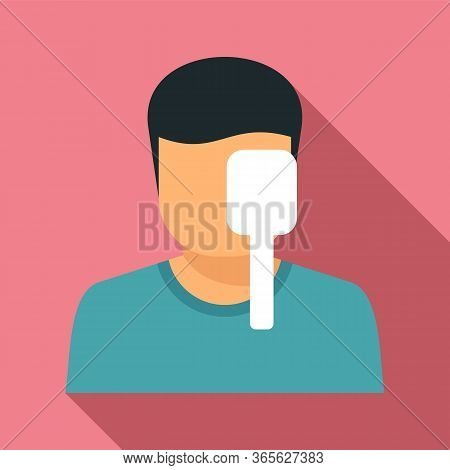 Check Eye Examination Icon. Flat Illustration Of Check Eye Examination Vector Icon For Web Design
