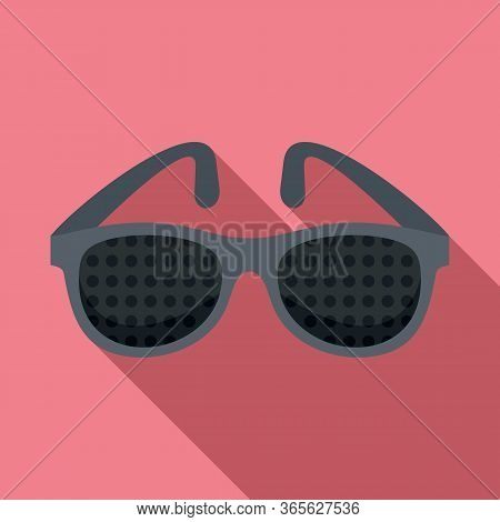 Examination Control Eyeglasses Icon. Flat Illustration Of Examination Control Eyeglasses Vector Icon