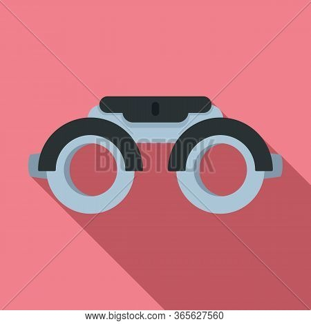 Eye Examination Steel Glasses Icon. Flat Illustration Of Eye Examination Steel Glasses Vector Icon F
