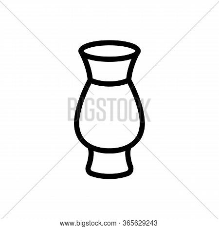 Ceramic Vase Icon Vector. Ceramic Vase Sign. Isolated Contour Symbol Illustration