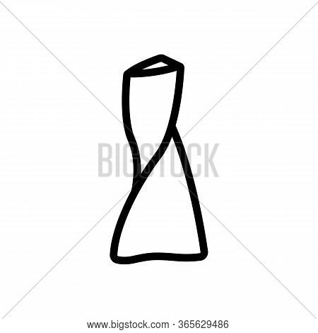Unusual Flower Vase Icon Vector. Unusual Flower Vase Sign. Isolated Contour Symbol Illustration