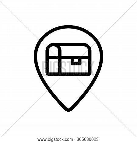 Destination Treasure Icon Vector. Destination Treasure Sign. Isolated Contour Symbol Illustration