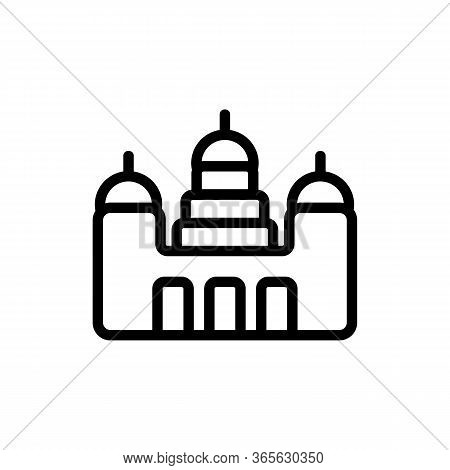 Monastery Appearance Icon Vector. Monastery Appearance Sign. Isolated Contour Symbol Illustration
