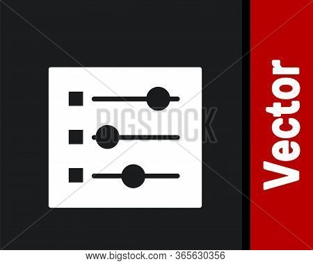 White Car Settings Icon Isolated On Black Background. Auto Mechanic Service. Repair Service Auto Mec