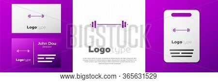 Logotype Barbell Icon Isolated On White Background. Muscle Lifting Icon, Fitness Barbell, Gym, Sport