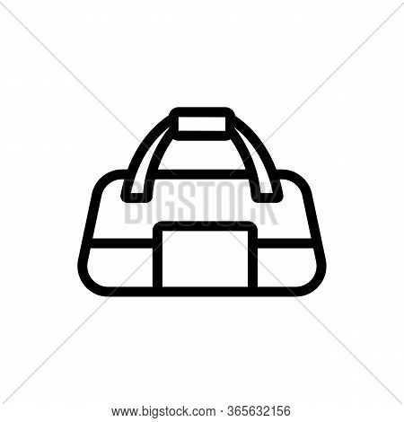 Regular Sports Bag For Gym Icon Vector. Regular Sports Bag For Gym Sign. Isolated Contour Symbol Ill