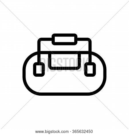 Bag With Securely Attached Handles Icon Vector. Bag With Securely Attached Handles Sign. Isolated Co