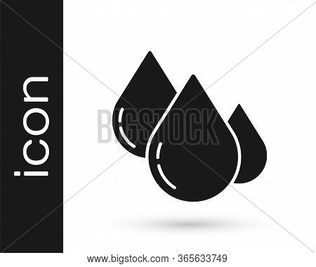 Grey Water Drop Icon Isolated On White Background. Vector Illustration