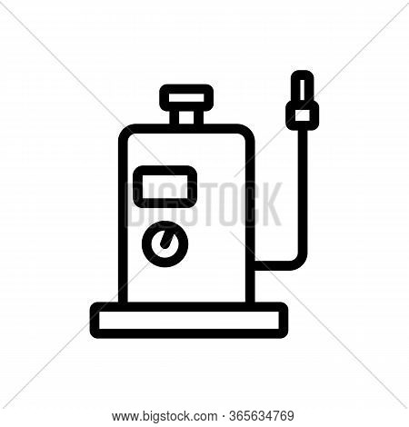 Vertical Air Compressor With Safety Indicator Icon Vector. Vertical Air Compressor With Safety Indic