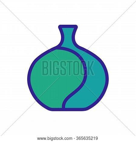 High Capacity Vase Icon Vector. High Capacity Vase Sign. Color Symbol Illustration