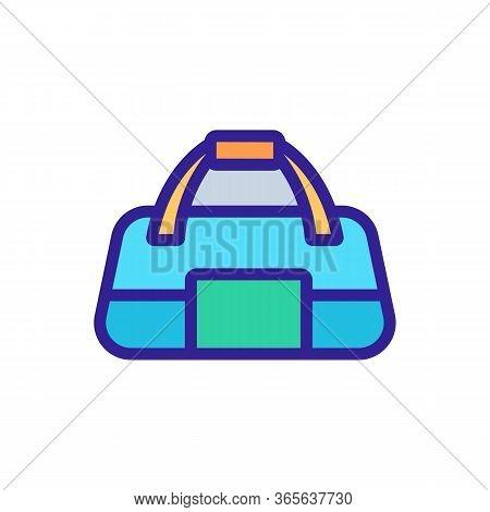 Regular Sports Bag For Gym Icon Vector. Regular Sports Bag For Gym Sign. Color Symbol Illustration