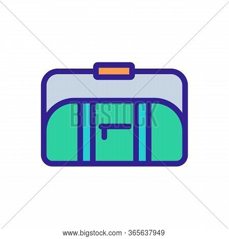 Sports Bag With Long Handle On Shoulder Icon Vector. Sports Bag With Long Handle On Shoulder Sign. C